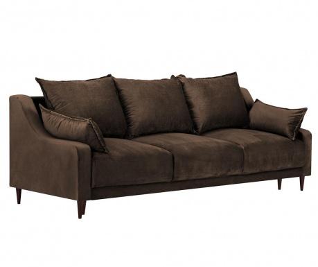 Rozkładana kanapa trzyosobowa Freesia Brown