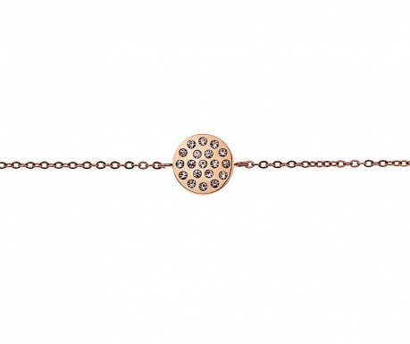 Inlaid Circle Rose Gold Karkötő
