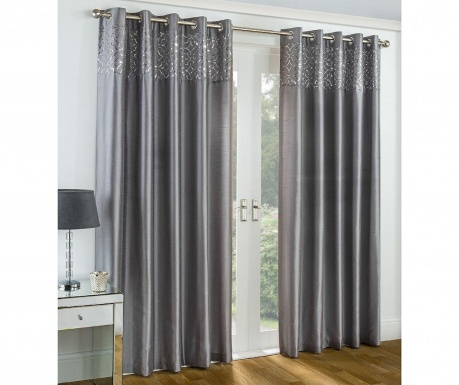 Set 2 draperii Eastern Palace Silver 117x137 cm