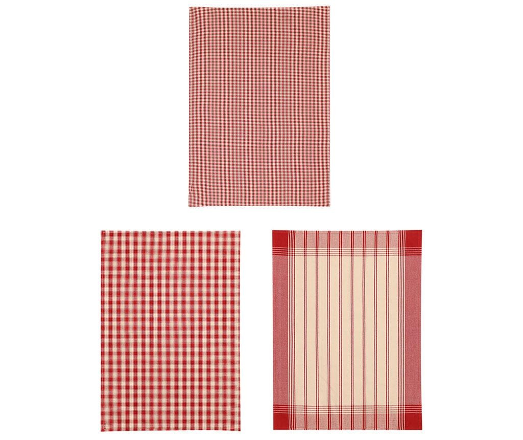 Set 3 kuhinjska ručnika Trobera 50x70 cm