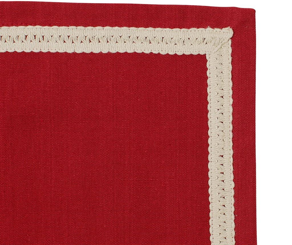 Ubrus Carreau Red 40x40 cm