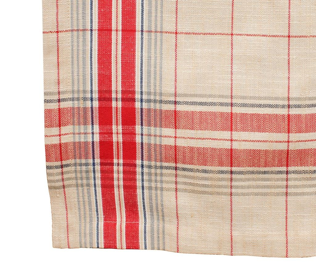 Batignolles Red Asztali futó 50x150 cm