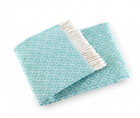 Priročna odeja Agave Pastel Blue 140x180 cm
