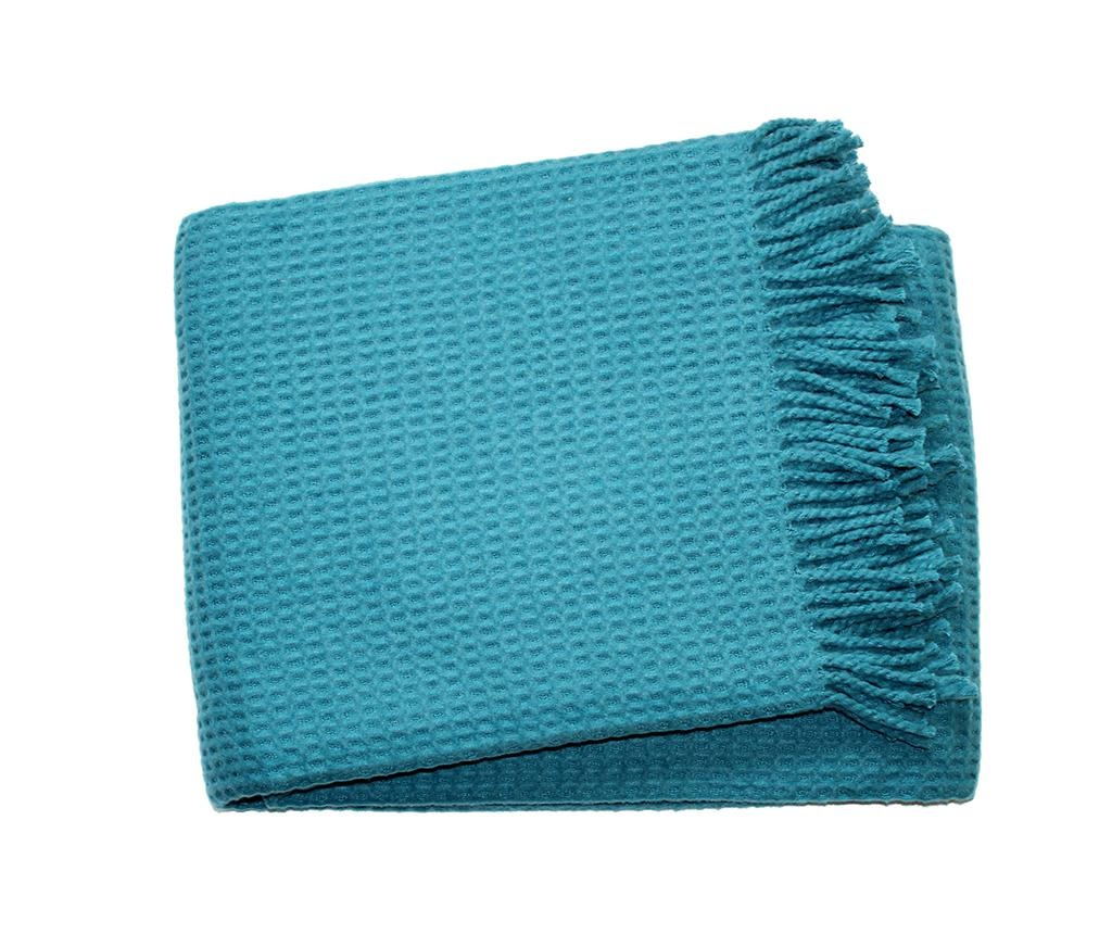 Basics Waffle Ocean Blue Pléd 140x180 cm