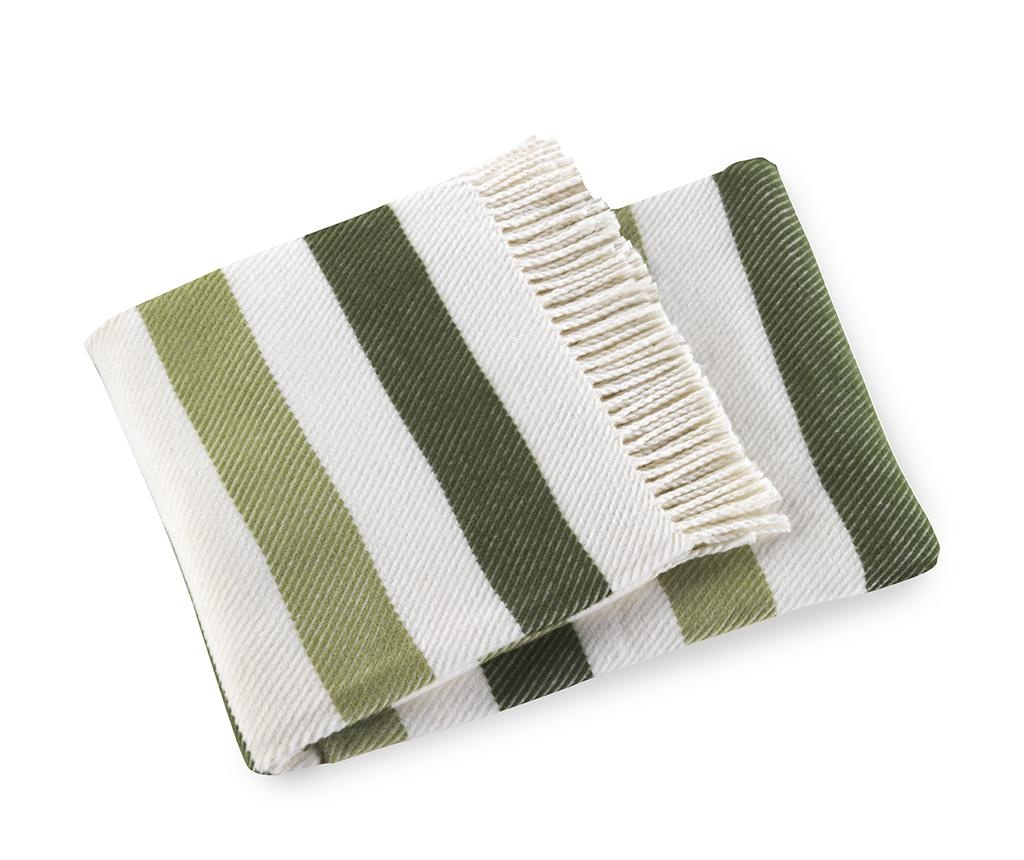 Sweet Stripe Olive Green Pléd 140x180 cm
