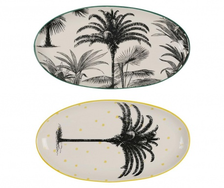 Set 2 pladnja Tropical Vintage