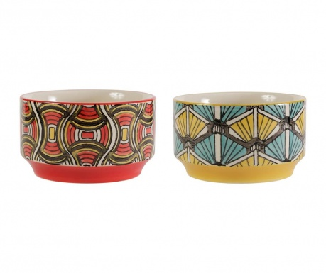 Set 2 skled African Vibes Wide Red Yellow Blue