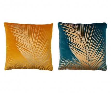 Set 2 perne decorative Palme Dore Emerald Yellow 45x45 cm
