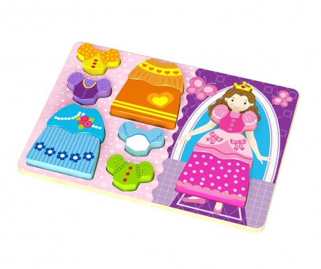 Joc tip puzzle 8 piese Chunky Puzzle  Princess