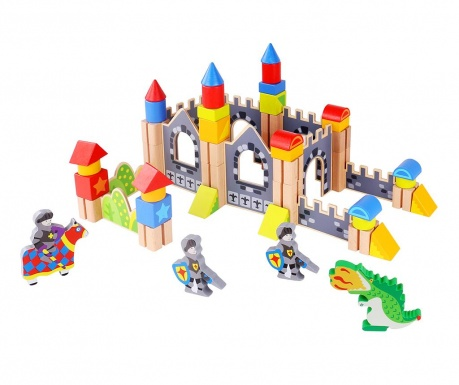 Set de construit 60 piese Knight Castle