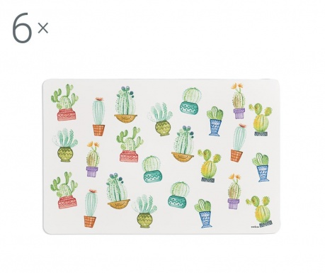 Set 6 individualuri Cactus 28.5x43 cm