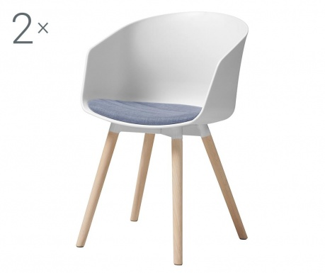 Set 2 stolice Moon White Purple