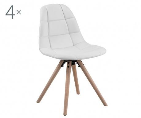 Set 4 stolice Lotta White