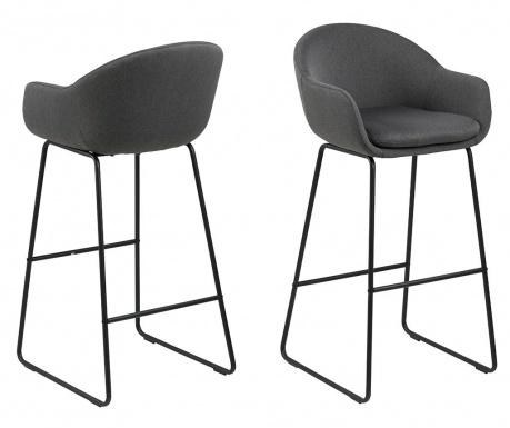 Sada 2 barových židlí Ally Black