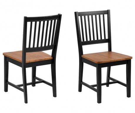 Set 2 stolice Brisbane Black
