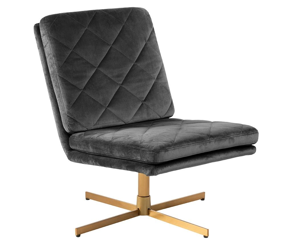 Otočná židle Carrera Dark Grey