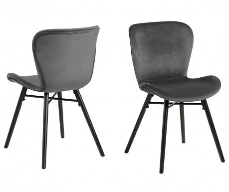 Set 2 stolice Batilda Velvet Dark Grey