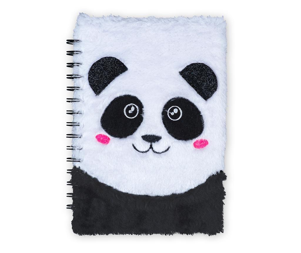 Cute Fluffy Panda Spirálos napló