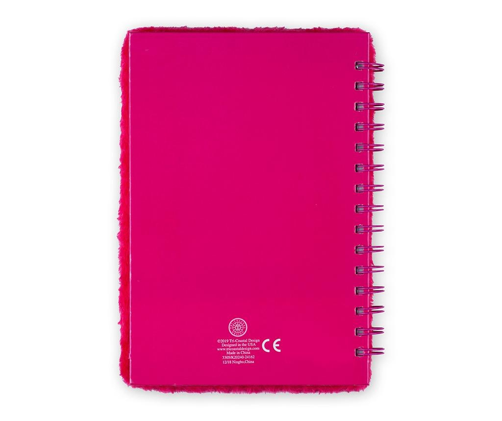 Dnevnik s spiralno vezavo Fluffy Queen Flamingo