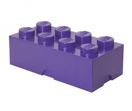 Cutie cu capac Lego Rectangular Extra Sand Lilac