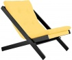 Sklopiva ležaljka za dnevni boravak Black & Amarillo