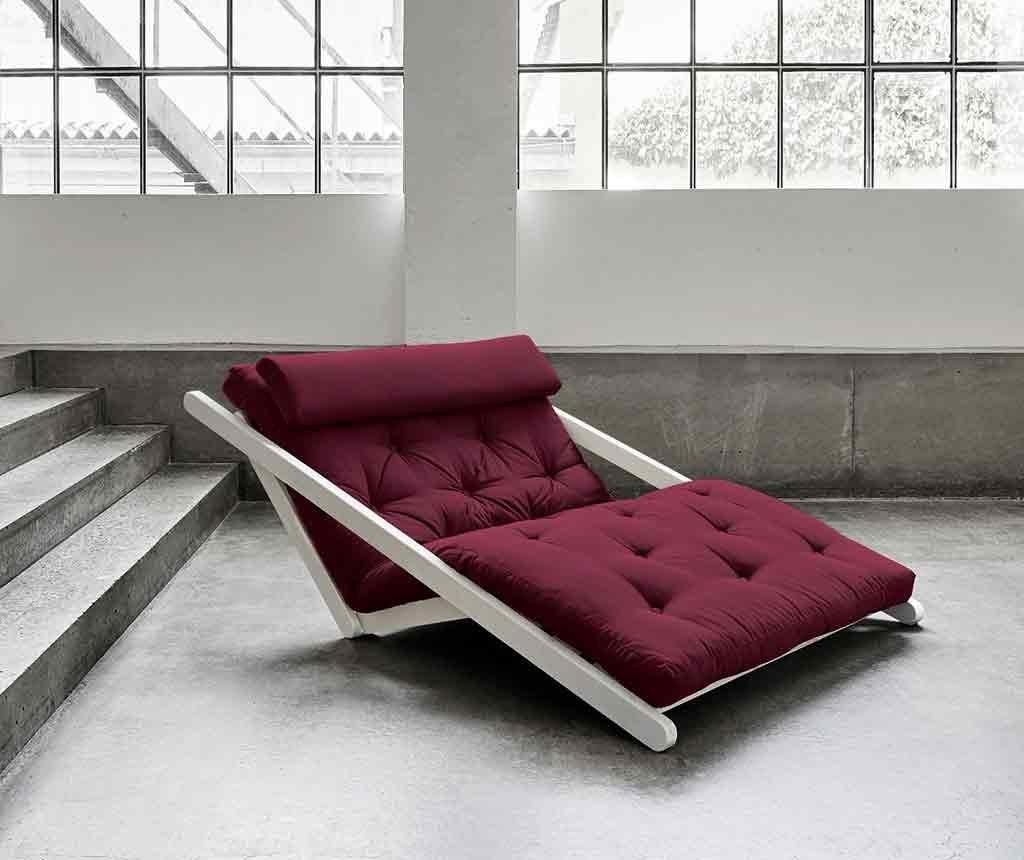 Figo White & Bordeaux Kihúzható nappali heverő 120x200 cm