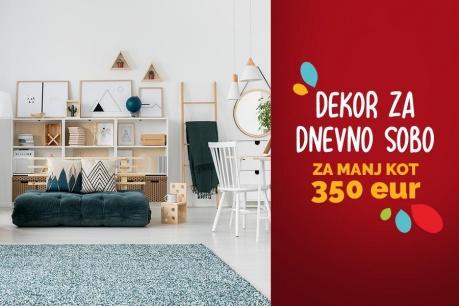 Obnova dekorja v dnevni sobi za manj kot 350 EUR