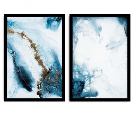 Set 2 tablouri Abstract Marble 36x51 cm