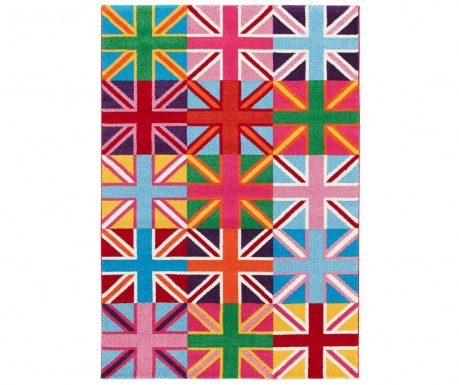 Preproga Metropolitan UK Flags She 133x190 cm