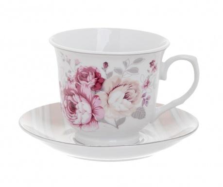 Zestaw 6 filiżanek i 6 talerzyków do herbaty Spring Violet
