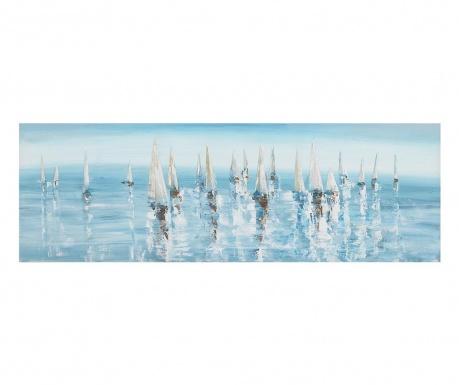 Obraz Boats 50x150 cm