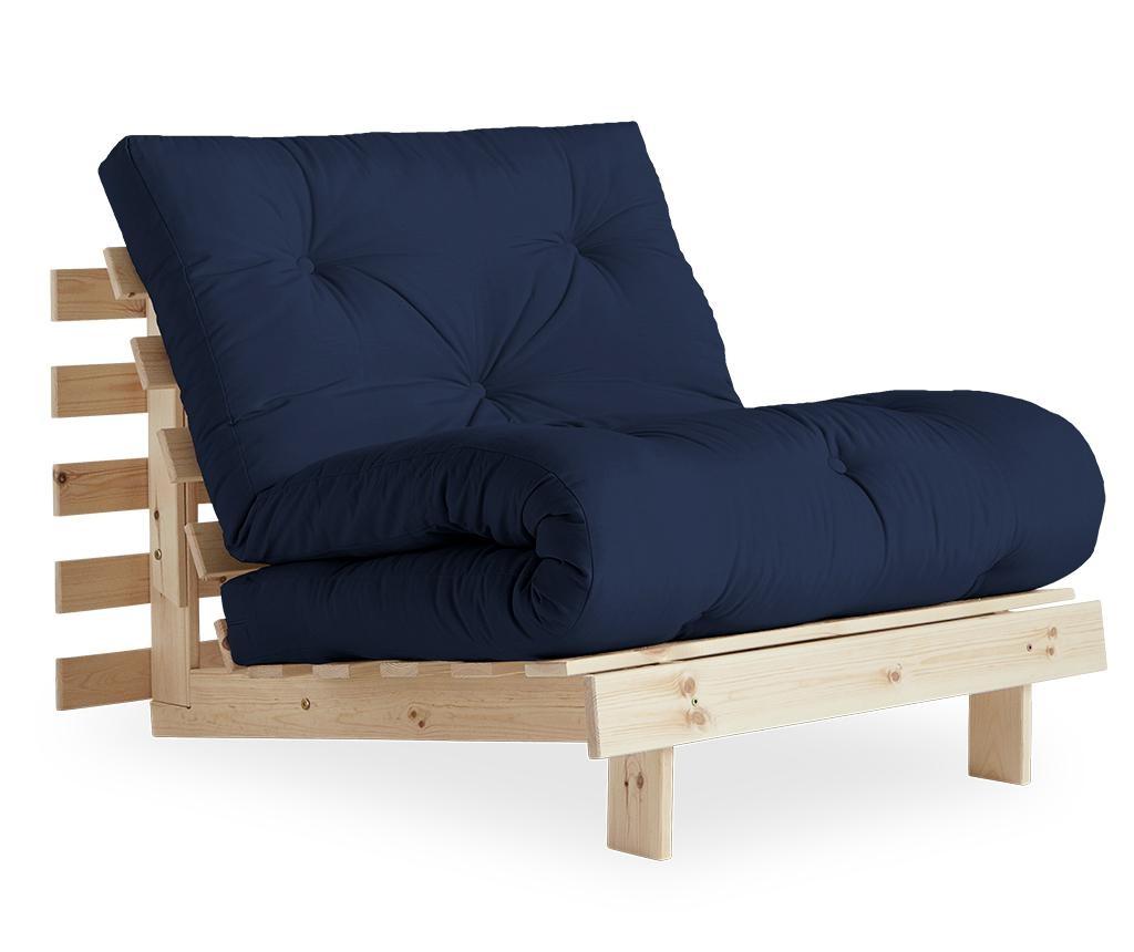 Roots Raw & Navy Kihúzható fotel 90x200 cm