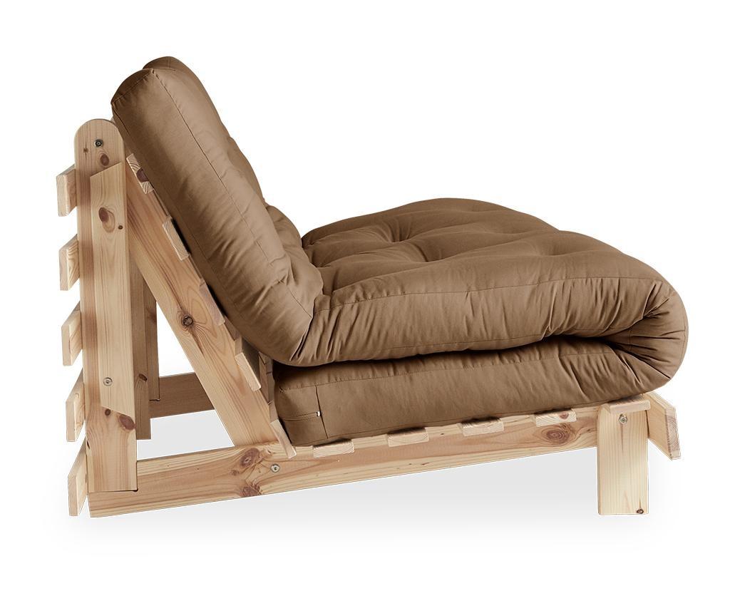 Rozkládací sedačka Roots Raw & Mocca 140x200 cm