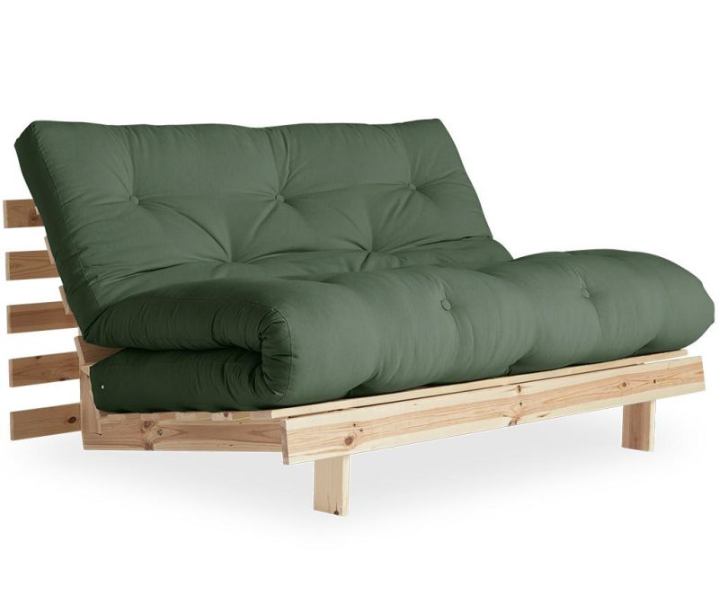 Sofa extensibila Roots Raw & Olive Green