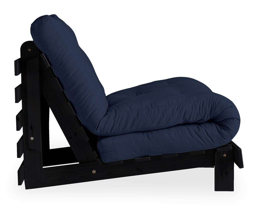 Roots Black & Navy Kihúzható fotel 90x200 cm