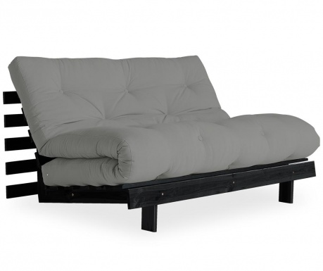 Sofa extensibila Roots Black & Grey 140x200 cm