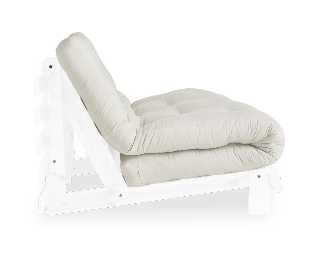 Rozkládací sedačka Roots White & Natural 140x200 cm