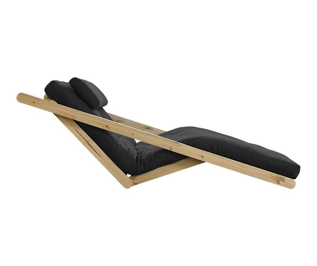 Raztegljiv počivalnik za dnevno sobo Figo Natural & Dark Grey 120x200 cm