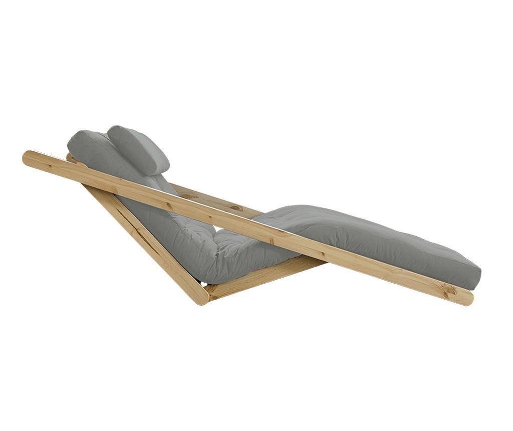 Raztegljiv počivalnik za dnevno sobo Figo Natural & Grey 120x200 cm