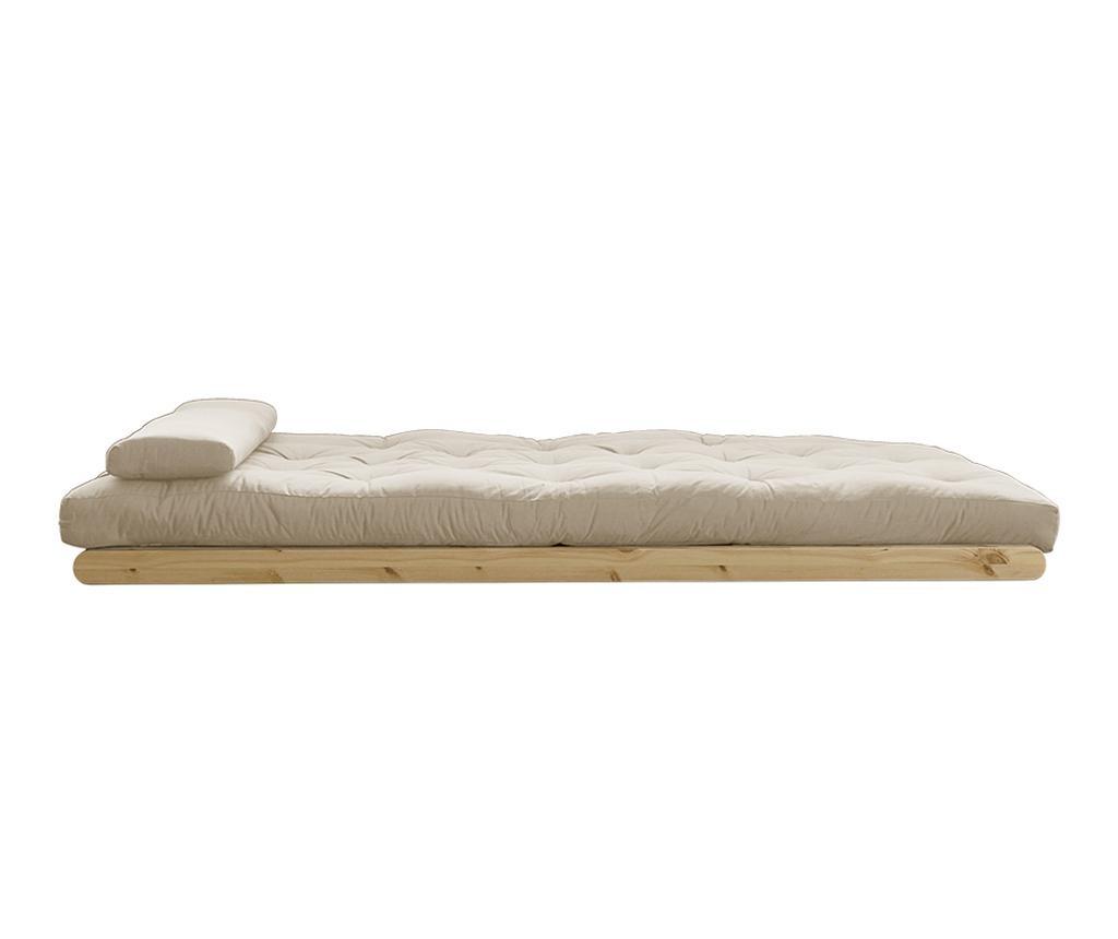 Figo Natural & Beige Kihúzható nappali heverő 120x200 cm