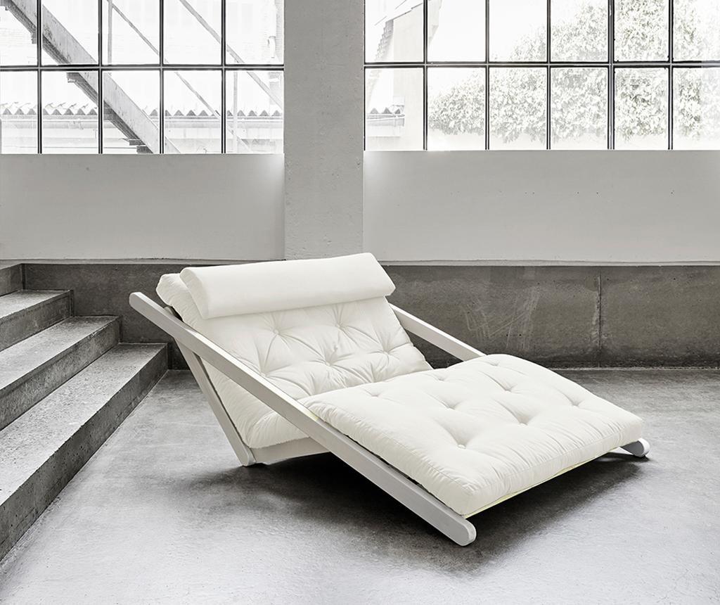 Raztegljiv počivalnik za dnevno sobo Figo White & Natural 120x200 cm