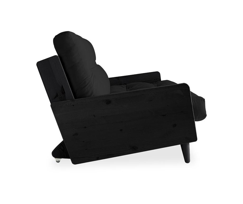 Sofa extensibila Indie Black & Dark Grey 130x190 cm
