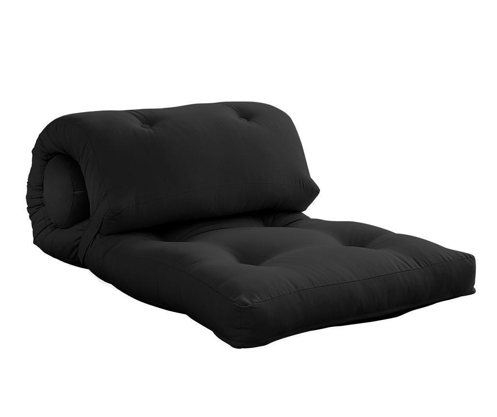 Wrap Dark Grey Puff 70x200 cm