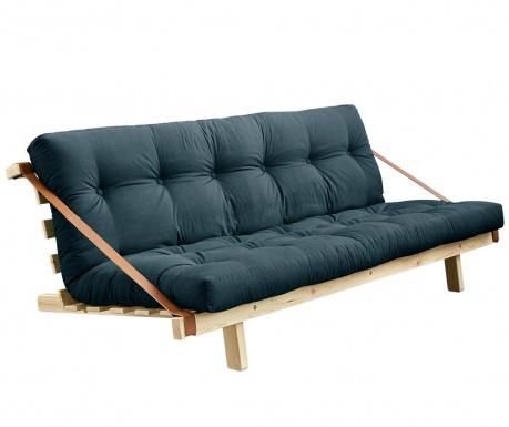 Sofa extensibila Jump Natural & Petrol Blue 130x190 cm