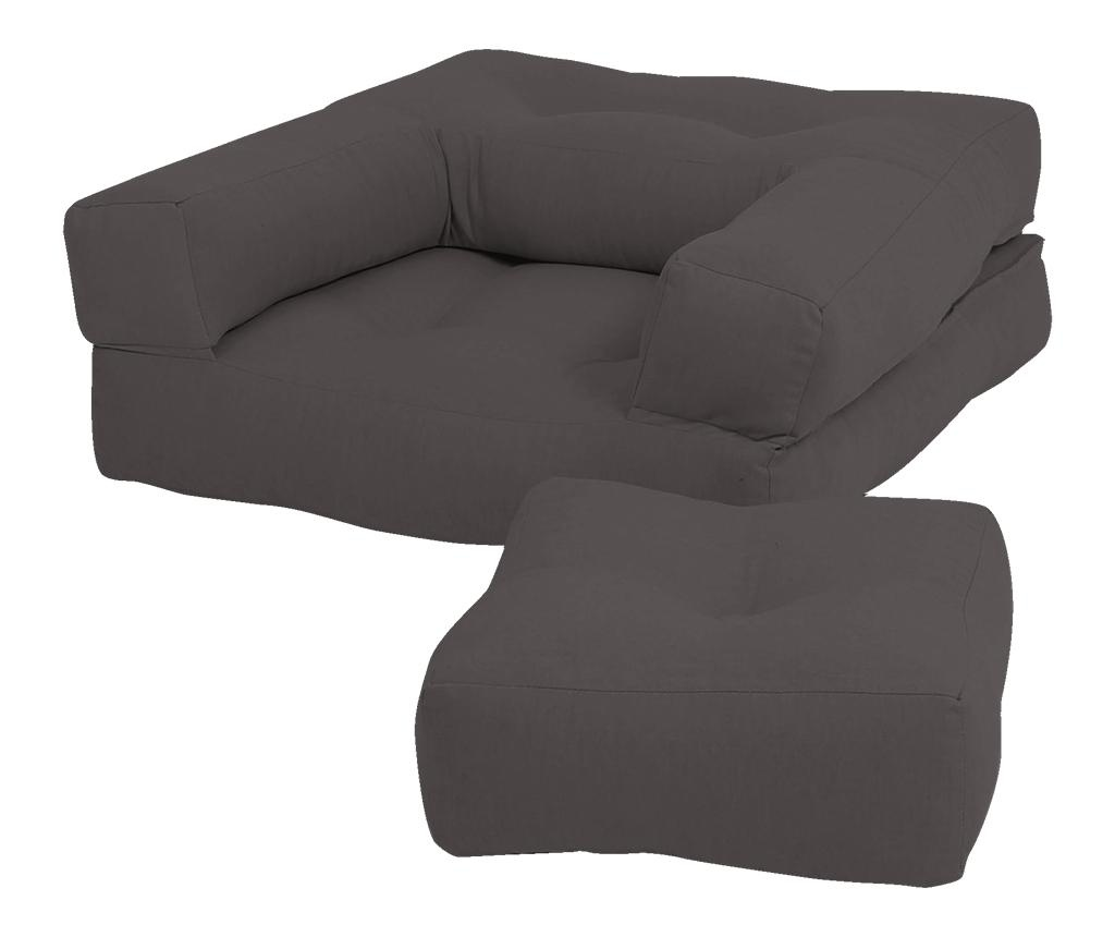Разтегателен детски фотьойл Mini Cube Grey 60x135 см