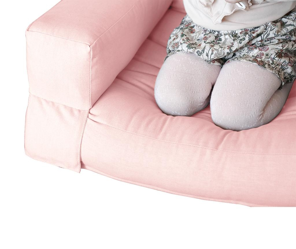 Raztegljiv otroški naslanjač Mini Hippo Pink Peonie 65x140 cm