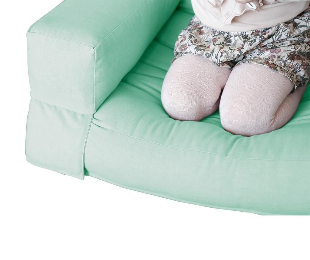 Raztegljiv otroški naslanjač Mini Hippo Peppermint 65x140 cm