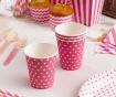 Set 8 kozarcev za enkratno uporabo Carnival Dots Pink