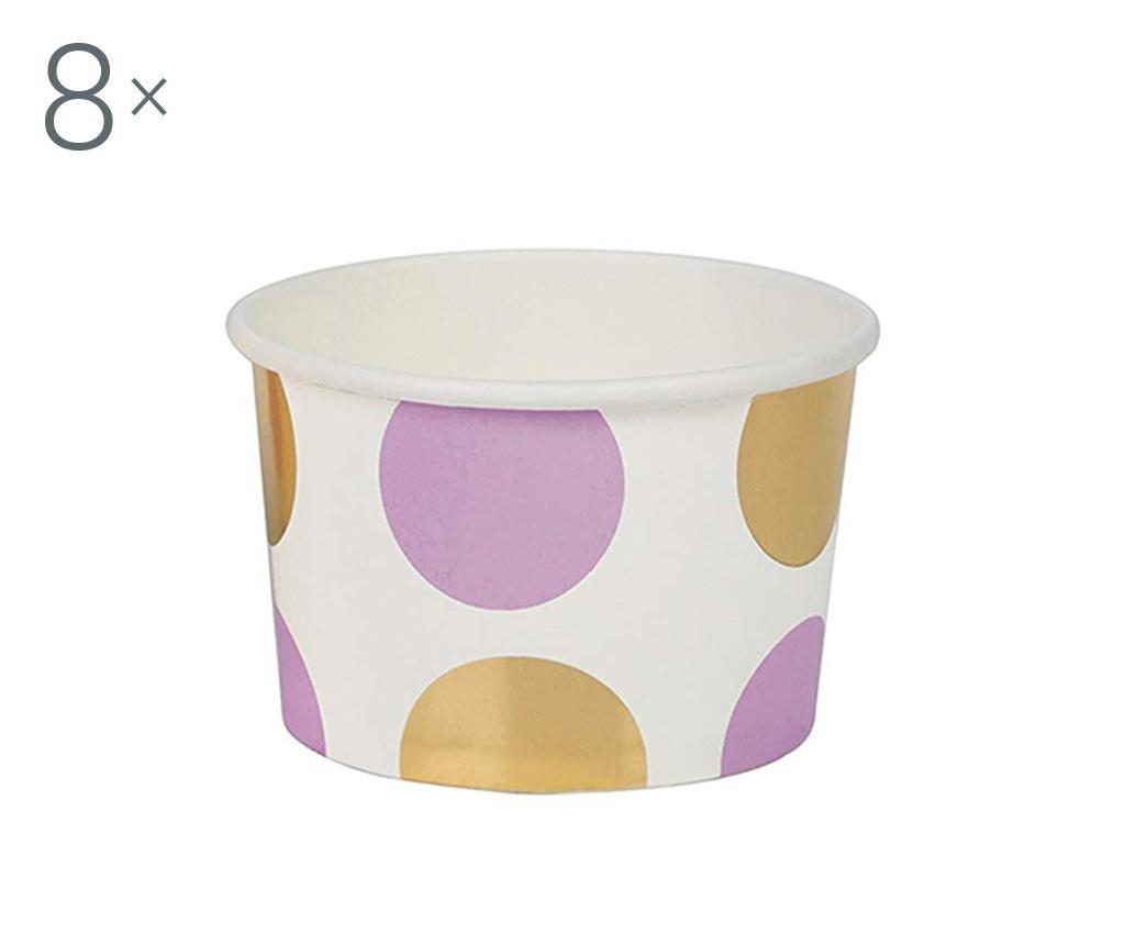 Set 8 boluri de unica folosinta Pattern Works Lilac Dots
