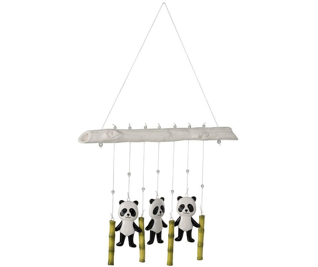 Decoratiune suspendabila Pandas - J-line, Alb,Negru